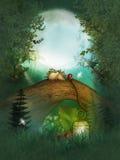 Poires sur l'arbre magique Photo libre de droits