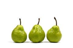 poires vertes trois Photo stock