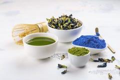 Pois butterflly, thé vert de matcha image libre de droits