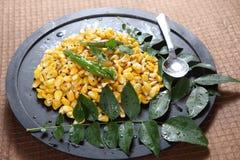 Pois chiche de maïs, maïs sundal photographie stock libre de droits