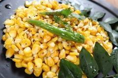 Pois chiche de maïs, maïs sundal photographie stock