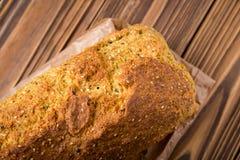 Pois chiche et pain faits maison de grain Image libre de droits