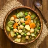 Pois chiche et potage aux légumes photographie stock