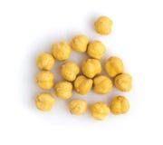 Pois chiches ou casse-croûte croustillants rôtis de Chana avec du sel d'isolement Images stock