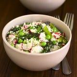Pois d'asperge de couscous et salade de radis Photos stock