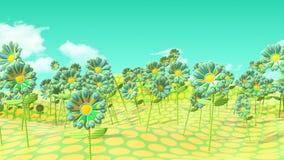 Pois del campo e fiori psichedelici Immagini Stock Libere da Diritti