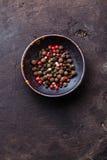 Pois multicolores de poivrons Photo libre de droits