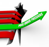 Poise Under Pressure Arrow Rises Over Hole Overcoming Challenge Stock Photos