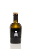Poison. A Bottle of Poison Isolated on a White Background Stock Images