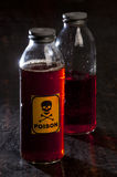 Poison bottle with label Royalty Free Stock Photography