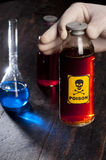 Poison bottle with label Stock Photography