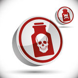 Poison bottle with skull 3d icon. Stock Images