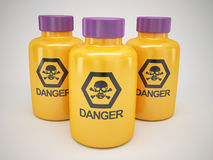 Poison bottles Stock Photography