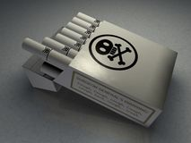 Poison Cigarettes Royalty Free Stock Images