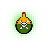 Poison comics icon. On a white background Royalty Free Stock Images