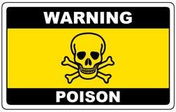 Free Poison, Danger Sign Warning Royalty Free Stock Image - 124043256