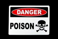 Poison de danger photo stock