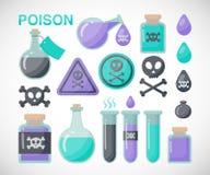 Poison  flat icon set Stock Photography
