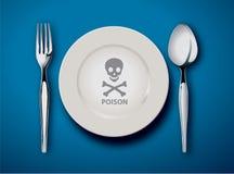 Poison food vector illustration
