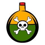 Poison icon cartoon Royalty Free Stock Image