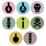 Poison icon designs Royalty Free Stock Image