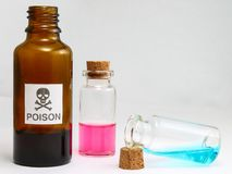 Poison- Methyl alcohol poisoning - Drug intoxication. Poisoning - unhealthy royalty free stock photo