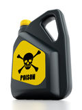 Poison plastic can Stock Image