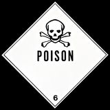 Poison Sign. Placard or sign warning of a poisonous material Royalty Free Stock Images