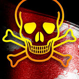 Poison sign background Royalty Free Stock Images
