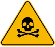 Poison sign royalty free stock photo