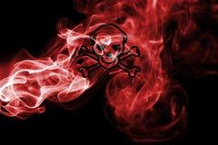 Poison smoke sign flag. On a black background Royalty Free Stock Photos