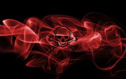 Poison smoke sign flag. Isolated on a black background Royalty Free Stock Photo