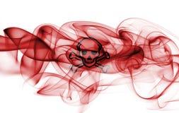Poison smoke sign flag. Isolated on a white background Stock Image