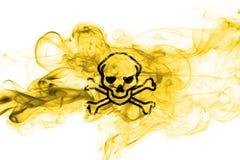 Poison smoke sign flag on a white background.  Royalty Free Stock Photo