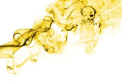 Poison smoke sign flag  on a white background Stock Image
