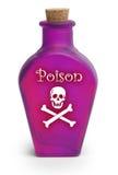 Poison sur le blanc Photos libres de droits