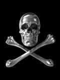 Poison or toxic symbol chrome stock image