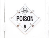 Poison Warning Sign. A poison warning sign with skull and crossbones Royalty Free Stock Images