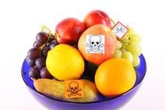 Poisoned fruits Stock Photos