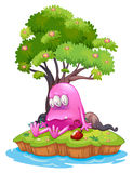A poisoned monster in an island. Illustration of a poisoned monster in an island on a white background Royalty Free Stock Photos