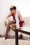Poisoned wine Royalty Free Stock Image