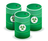 Poisonous barrels Royalty Free Stock Image