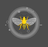 Poisonous Bee Vector Royalty Free Stock Images