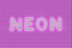 Strong glow neon. Poisonous-bright pink ultraviolet inscription Neon in a strong electric glow Stock Photos