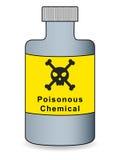 Poisonous Chemical Bottle. Vector Illustration of a bottle with poisonous chemical label Stock Image