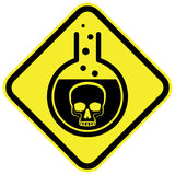 Poisonous Chemical warning sign. Vector illustration Stock Photography