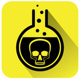 Poisonous Chemical warning sign. Vector illustration Royalty Free Stock Photo