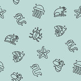 Poisonous creatures concept icons pattern Stock Image