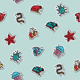 Poisonous creatures concept icons pattern. Vector illustration, EPS 10 Stock Photo