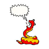 Poisonous snake cartoon Stock Photos